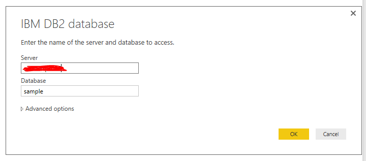 Issue connecting Power BI Desktop to IBM DB2 datab