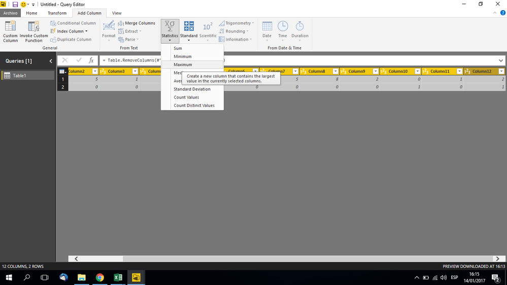 Solved: DAX Max value of multiple columns for every row - Microsoft