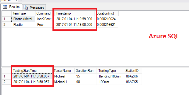 Get data within date time range on another table d    - Microsoft