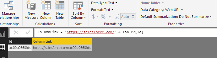 Solved: Need to create hyperlink in power bi, i have a uni