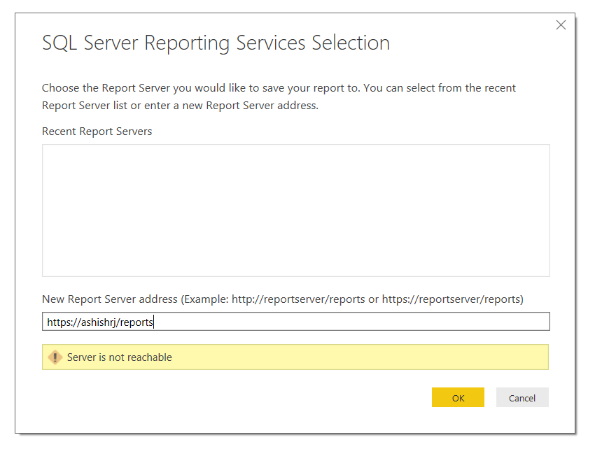 Issue Uploading Reports to SSRS On Premises - Microsoft