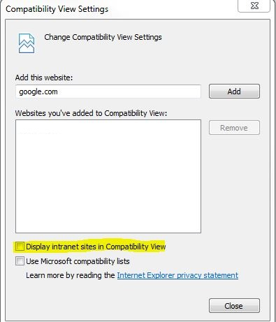 Embedded Report not working in IE 11, but works on    - Microsoft