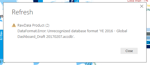 Unable To Refresh Data From Access Database Using     - Microsoft