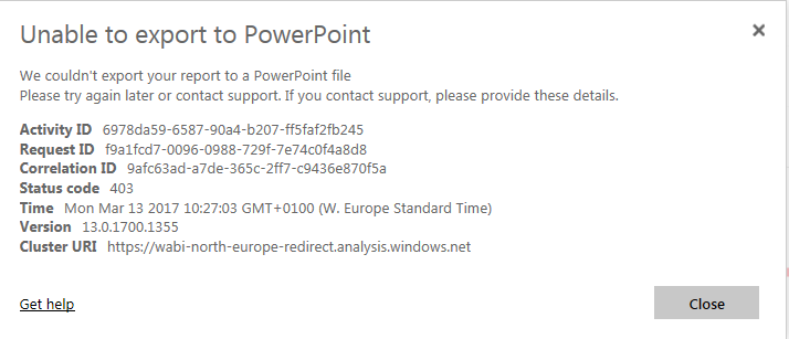 Export to PowerPoint (Preview) feedback Page 3 Microsoft