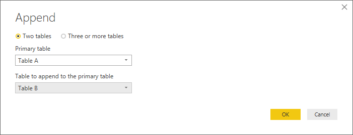 Solved Union Two Tables With Different Columns Names Microsoft