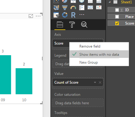 Show items with no data and slicers - Microsoft Power BI Community