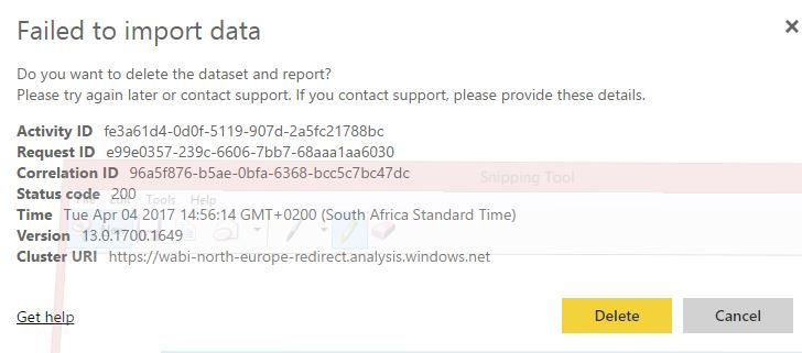 Zendesk Content Pack fails to refresh data(?) - Microsoft