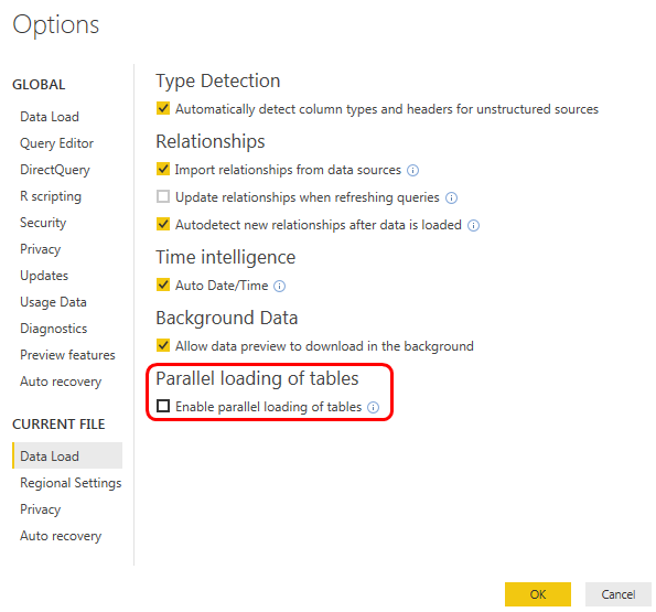 Solved: Power BI Desktop automatic refresh queries one-by