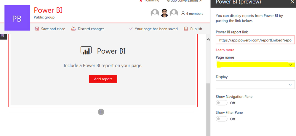 Power Bi Preview - Page name is not showing - Microsoft