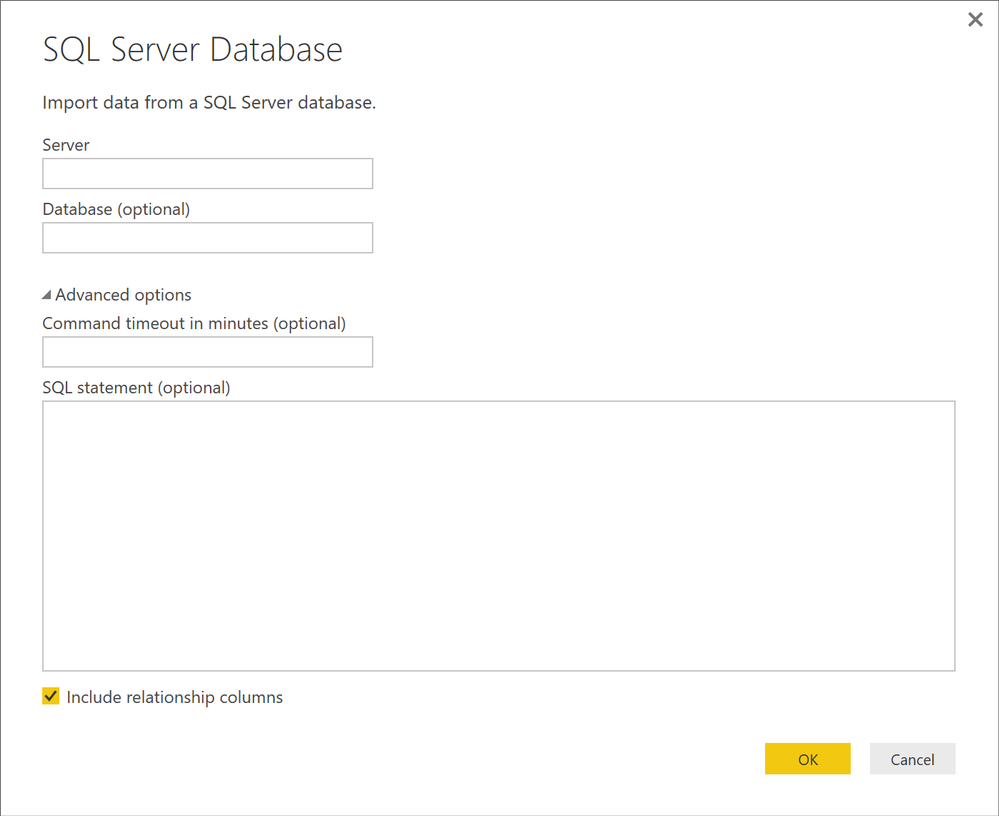Create a query to select data from a table - Microsoft Power