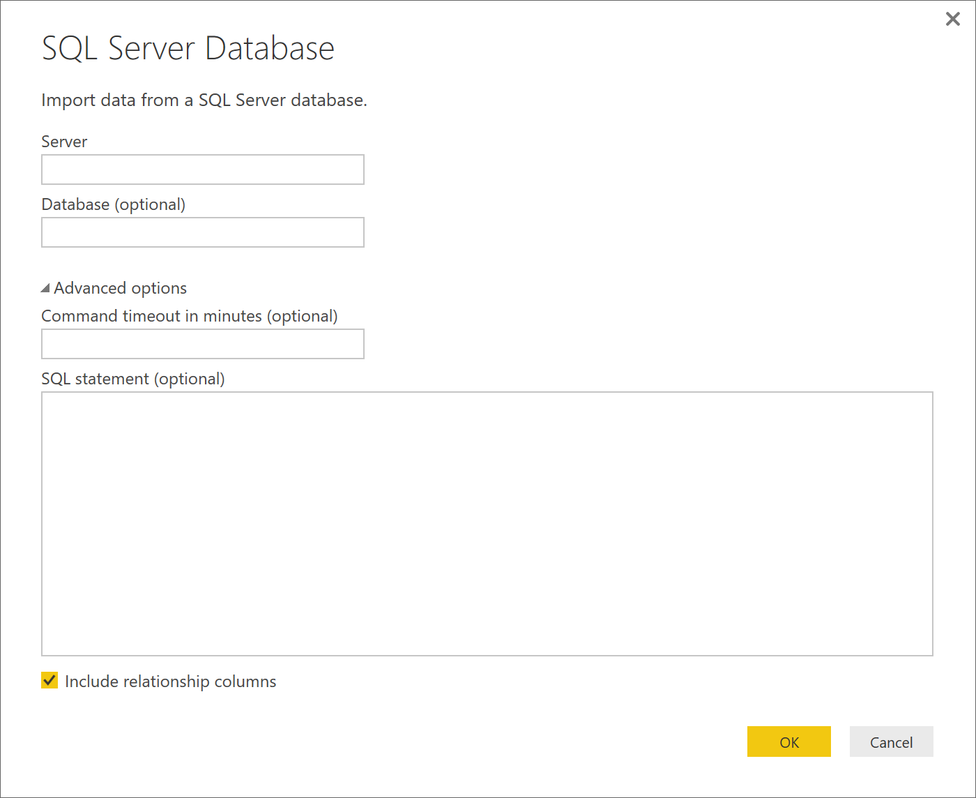 Create a query to select data from a table - Microsoft Power BI
