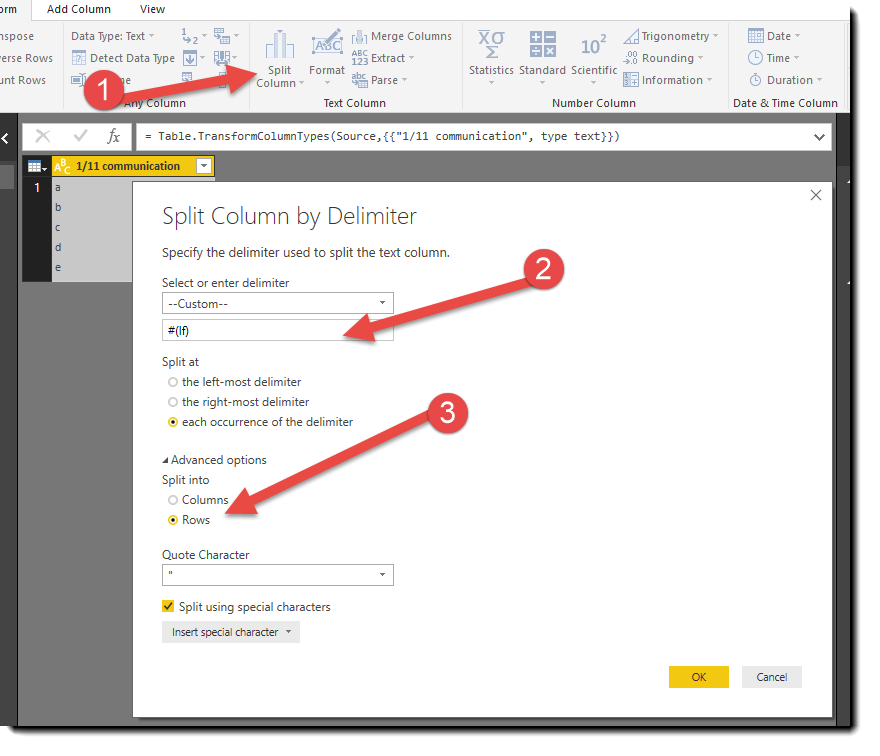 Solved: Split a cell into multiple columns - Microsoft Power BI