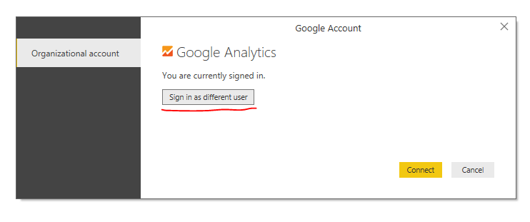 Solved: chanage google analytics account connection deskto