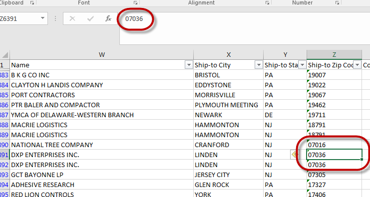Solved: Zip Codes that start with 0, 0 is not Displaying - Microsoft on