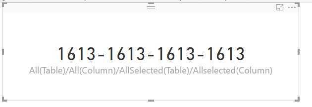 Solved: What's the difference between ALL vs  ALLSELECTED