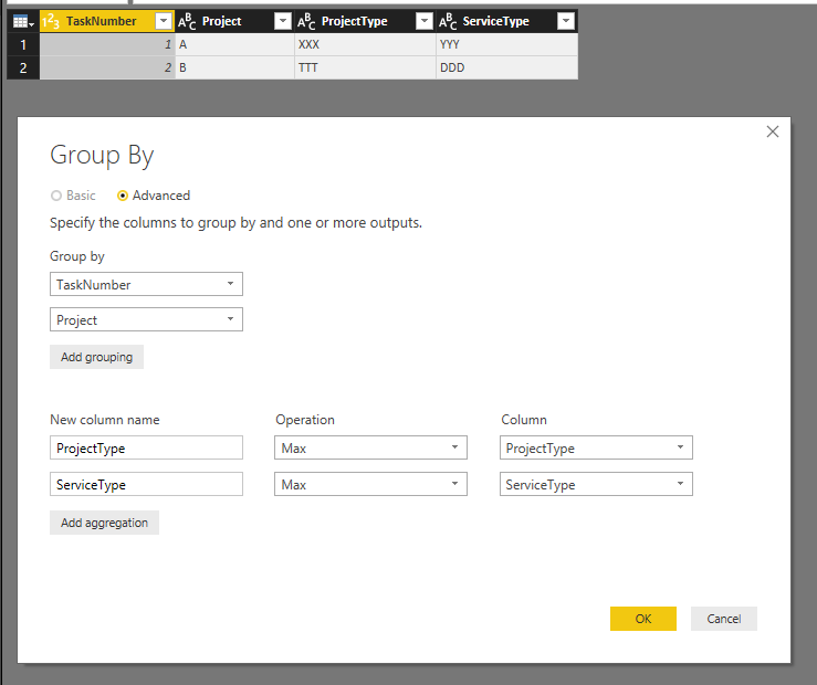 Solved: combine data into one row - Microsoft Power BI Community