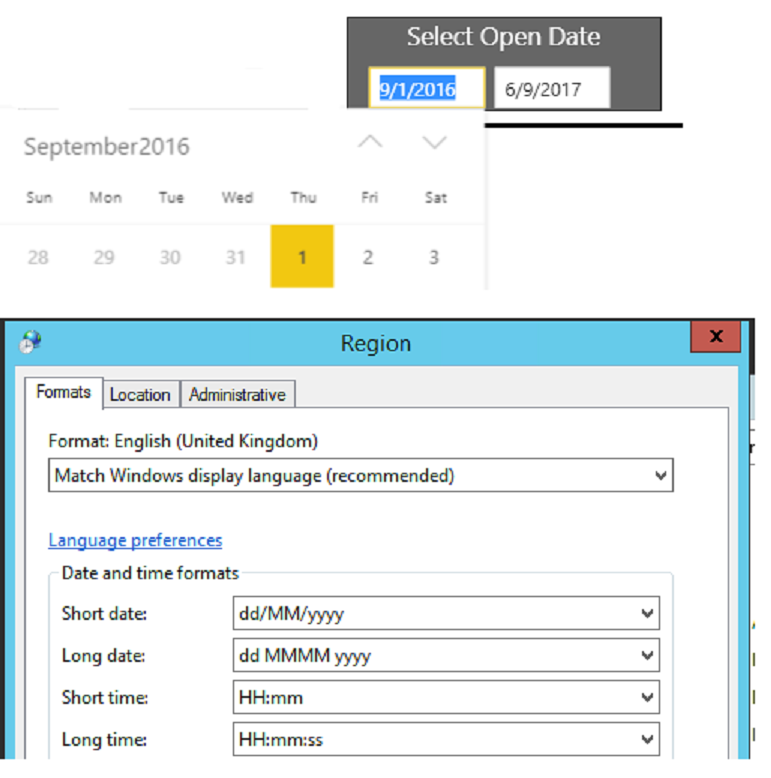 date picker format in Power BI Report Server - Microsoft