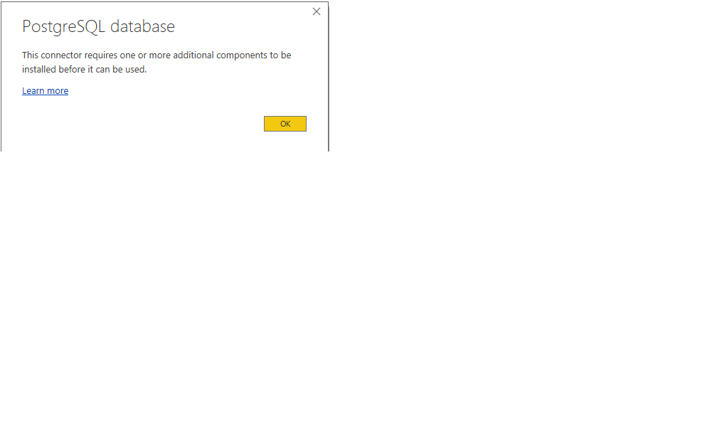Configuring Power BI Connectivity to PostgreSQL Database
