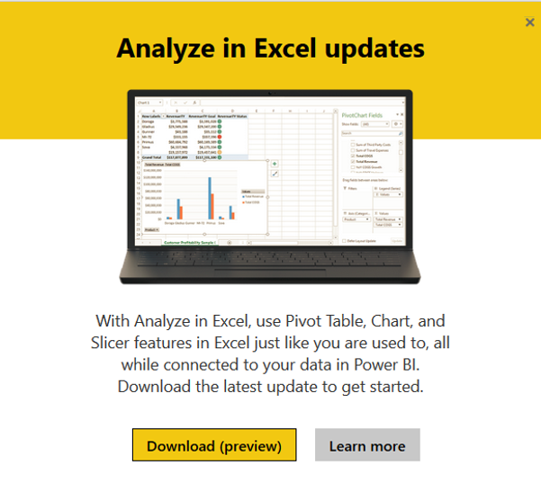 Solved: Analyze in Excel: Initialization of the data sourc