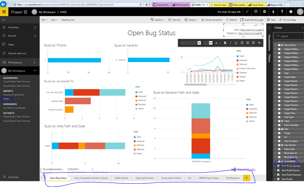 Solved: Power BI and VSTS reporting - Microsoft Power BI