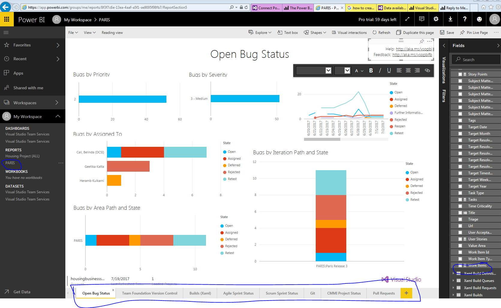 solved  power bi and vsts reporting