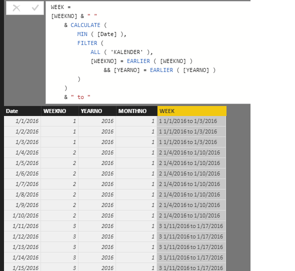 Solved: DAX statement for the Calendar table - Microsoft