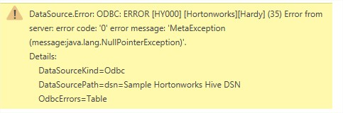 Solved: UNABLE TO CONNECT - ODBC - Microsoft Power BI Community