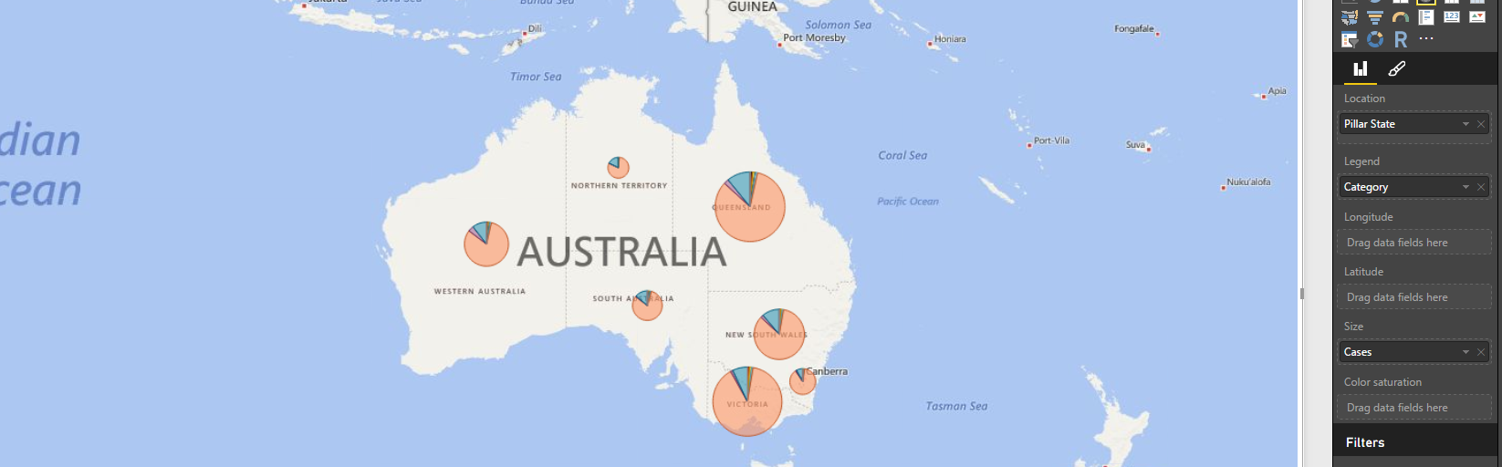 How To Create Pie Charts On World Map Microsoft Power Bi Community