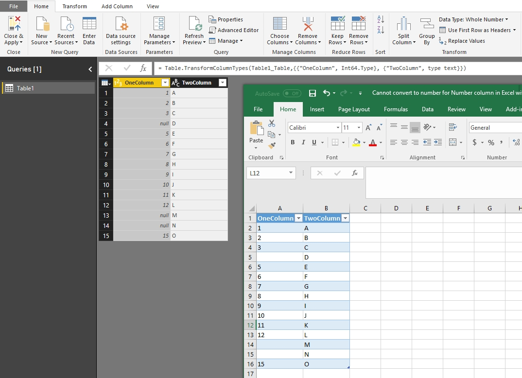 Solved: Error: Cannot convert to number for Number column