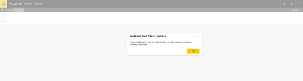 Solved: Power BI Report Server: You are not allowed to vie