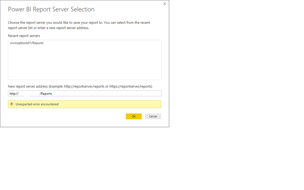Unable to Connect Power BI Report Server through D    - Microsoft