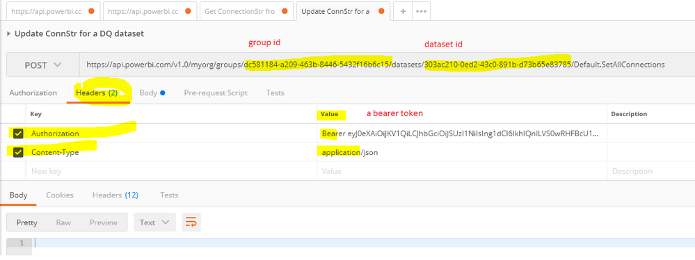 Solved: Power BI Rest API - Update All Connections