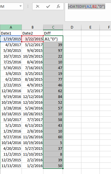 Solved: Day Count between two dates - DAX Help - Microsoft