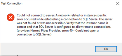 Solved: Configuration Manager - Can't connect to the datab