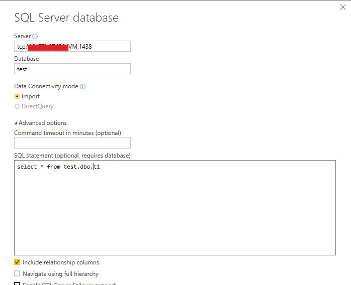 Solved: Unable to connect Power BI to SQL server db on the