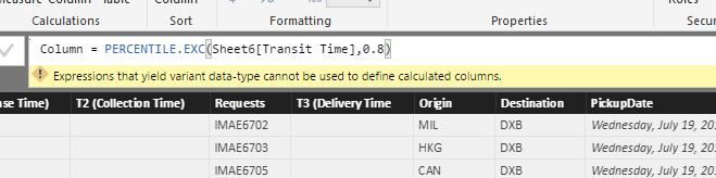 Solved: Calculating the percentile for a set of data