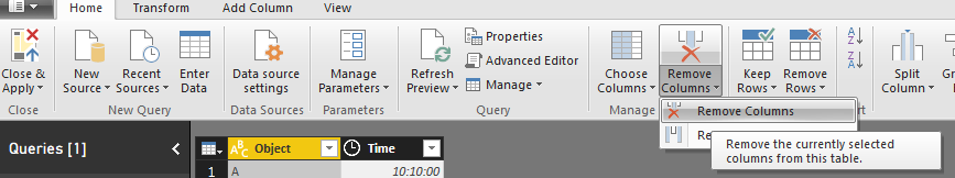 Solved: how do you remove columns in query editor - Microsoft Power