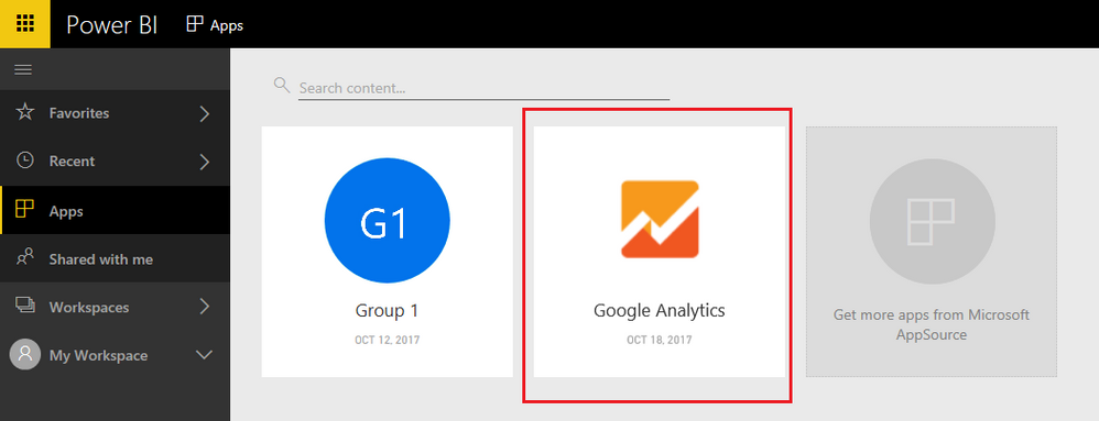 Solved: Google analytics content pack