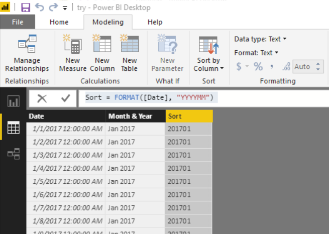 Solved: sorting a date table chronologically - Microsoft
