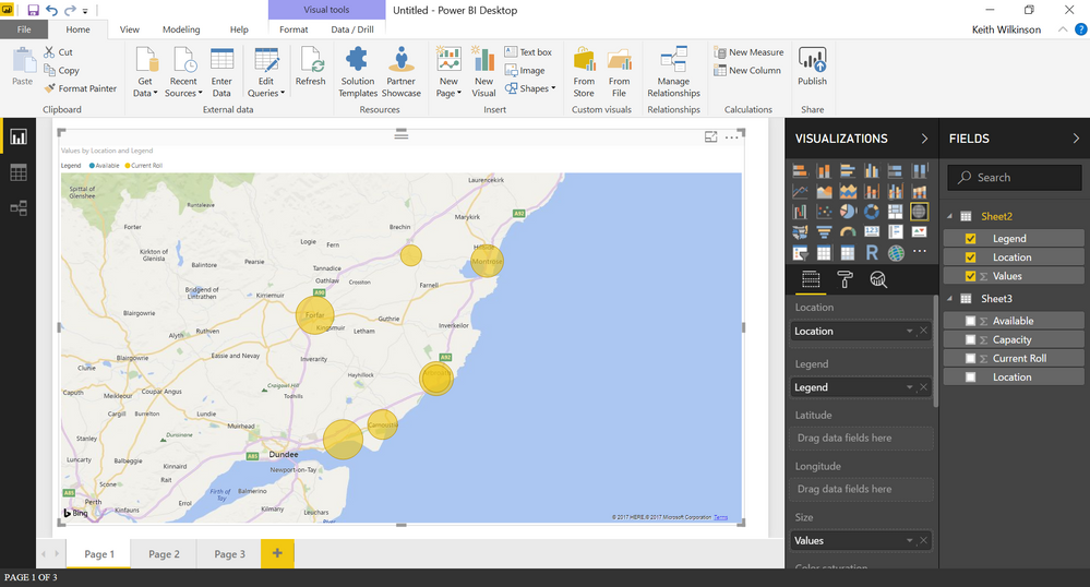 How To Create A World Map.How To Create Pie Charts On World Map Microsoft Power Bi Community