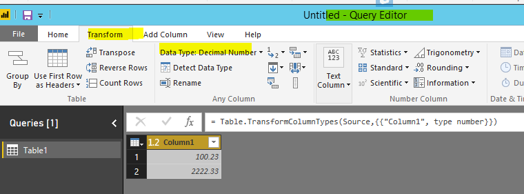 Solved: Issue decimal and whole number - Microsoft Power BI