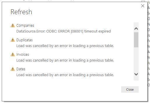 Solved: Query Timeout on update - Microsoft Power BI Community