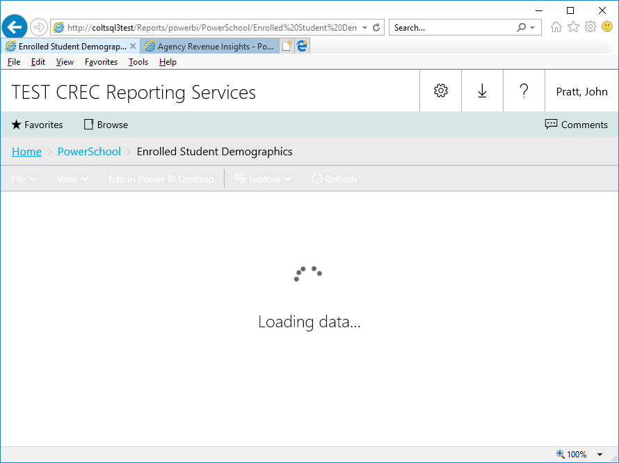 Existing Power BI reports will not load after upgr