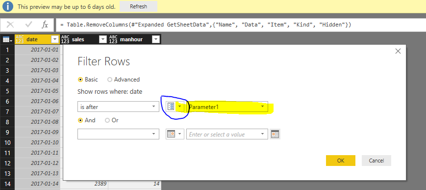 Solved: Limit import based on date - Microsoft Power BI