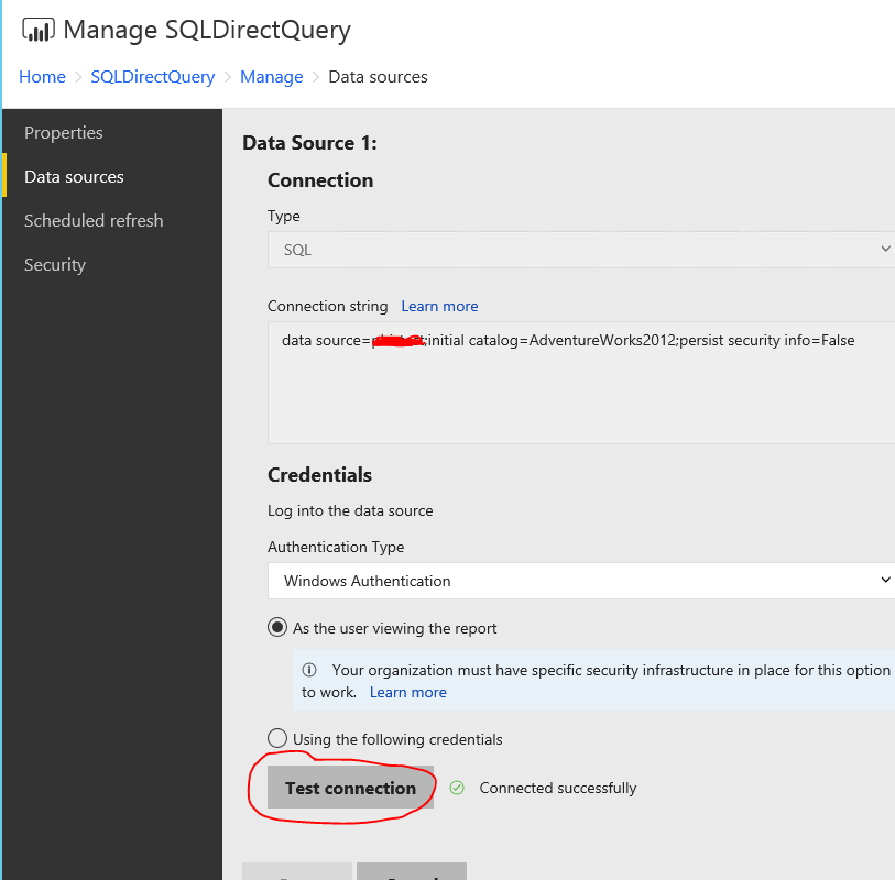 Solved: PowerBI Server (October) DirectQuery to SQL Server