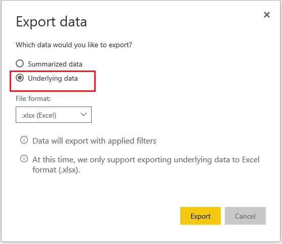 Solved: How to export data with original decimal value ins