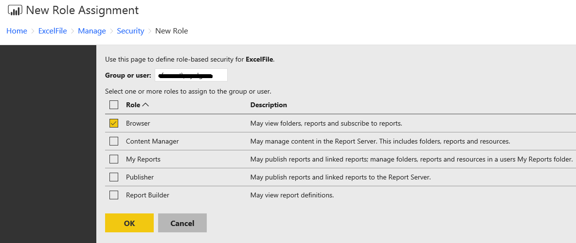 Solved: Cannot add users or groups in report server portal