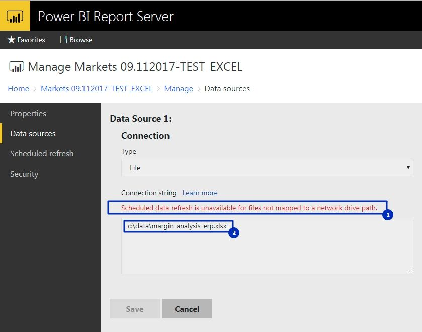 Scheduled data refresh for local excel file - Microsoft