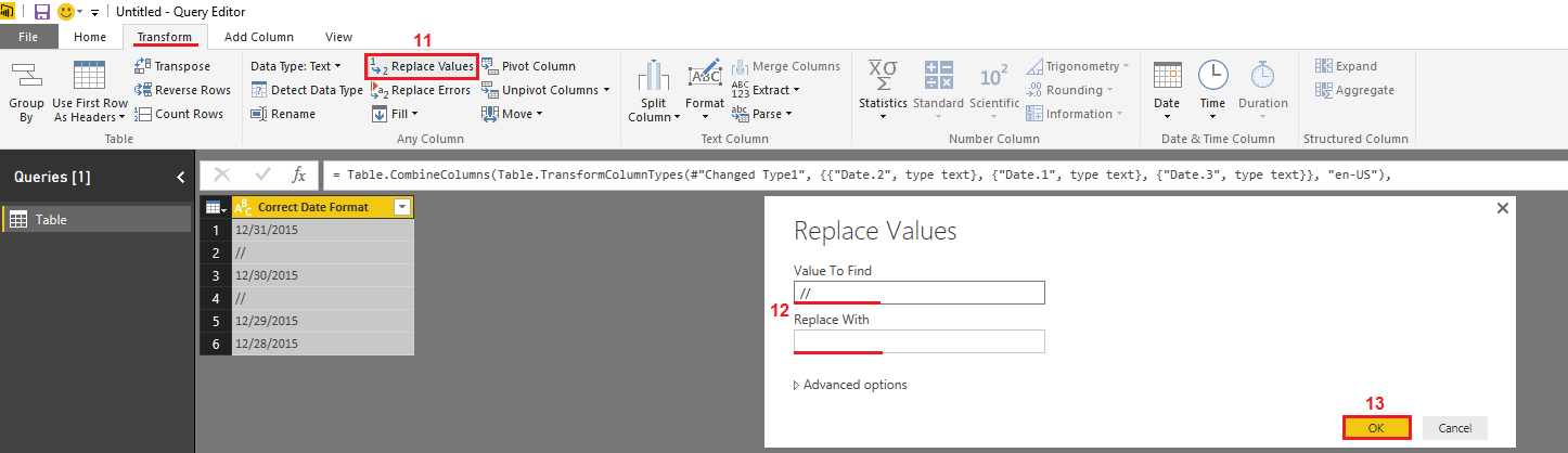 Solved: How to change the date format? - Microsoft Power BI