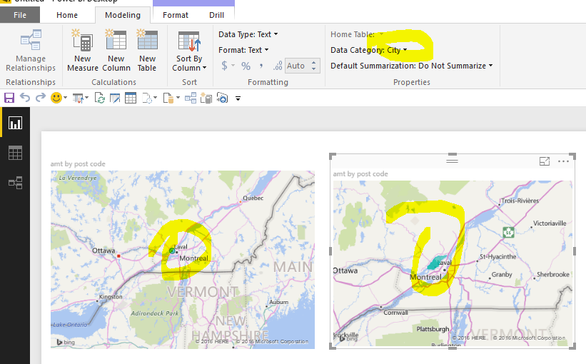Filled map and Canadian postal code Microsoft Power BI Community